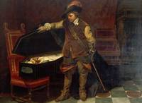 Paul Hippolyte Delaroche - Cromwell before the Cof
