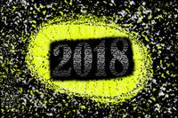 2018 abstract yellow background