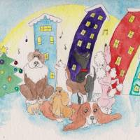 Canine Choir Art Prints & Posters by Yvonne Carter