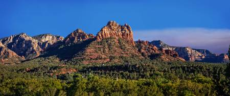 Sedona Smoky Horizon Panorama