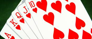 Straight flush Hearts Poker