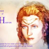 Queen of Heaven Art Prints & Posters by Valerie Anne Kelly