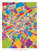 Canterbury England City Map