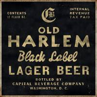 Old Harlem Lager Beer vintage advertisment