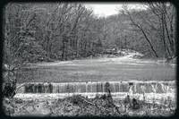 LAndscape ini Black and White - Winter Creek
