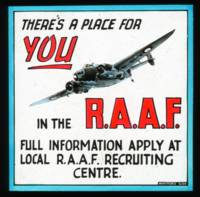 Vintage RAAF Air Force Australia Enlistment World