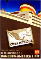 Vintage Cuba Mexico Cruise Ocean Liner Travel