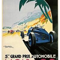 """Vintage Monaco Racing Grand Prix"" by PDGraphics"