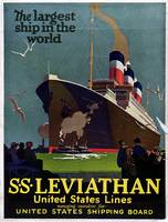 Vintage Nautical SS Leviathan Cruise Travel