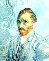 Vincent Self Portrait Watercolour