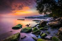 Cleveland Ohio Sunrise at Edgewater Beach by Cody