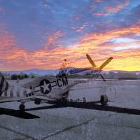 Ghosts of Naval auxiliary, Santa Rosa, CA P-51  by Richard Thomas