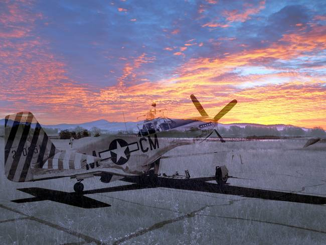 Ghosts of Naval auxiliary, Santa Rosa, CA P-51
