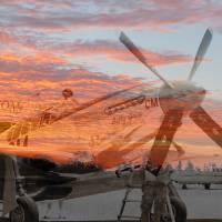 Ghosts of Naval auxiliary, Santa Rosa, CA P-51 Mus by Richard Thomas