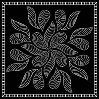 Black and White Bandana Design Framed Print