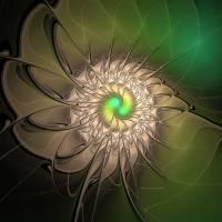 Digital Green Spin Art Prints & Posters by Deborah Benoit