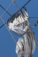 Furled Sail and Ropes