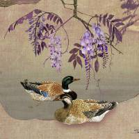 Ducks Under Wisteria Tree by I.M. Spadecaller