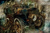 Car from steampunk era