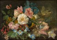 A CONTINENTAL OLD MASTER STILL LIFE Delicate Flowe