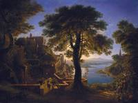 Castle by the River - Karl Friedrich Schinkel
