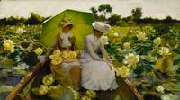 Charles Courtney Curran (1861-1942) Lotus Lilies 1