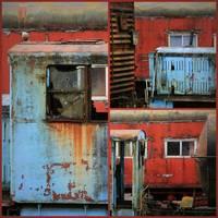 Forgotten Train Station Collage by Carol Groenen