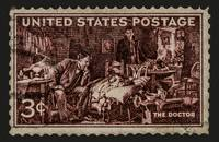 The Doctor - Concerned Physician Postage Stamp