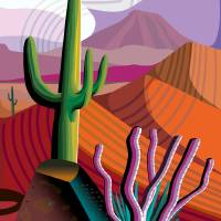 Desert at Gila River Indian Community Art Prints & Posters by Charles Harker