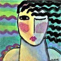 Funky Abstract Portrait of a Woman