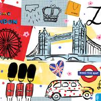 London, UK, by Farida Zaman Art Prints & Posters by They Draw & Cook & Travel
