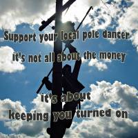 Support Your Local Pole Dancer Art Prints & Posters by Frankie Cat