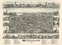 Aerial View of Westborough, Massachusetts (1888)