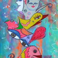 Moonlight Dance Art Prints & Posters by Adka (Andrea Jones)
