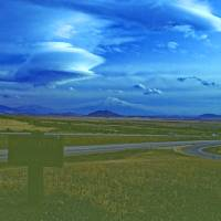 Clouds over Mt. Shasta Art Prints & Posters by Priscilla Turner