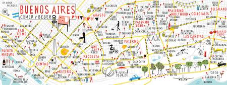 Buenos Aires Food Map by Anna Mendes