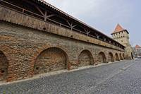 Wooden ramparts of the fortress wall  Sibiu Romani
