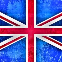 Bright Grunge Britis Flag
