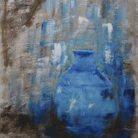 Blue Pottery Vase Painting Art Prints & Posters by Catalina Walker