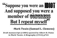 Idiot Congress Samuel L. Clemens Quote