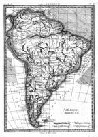 Vintage Map of South America (1780) BW