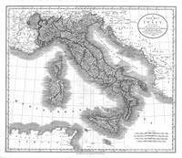 Vintage Map of Italy (1799) BW