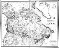 Vintage Map of Canada (1898) BW