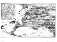 Vintage Cape Cod and NYC Steamboat Route Map BW