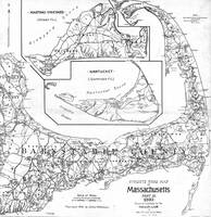 Vintage Cape Cod Cyclist Map (1893) BW