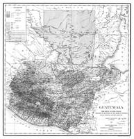 Vintage Map of Guatemala (1902) BW