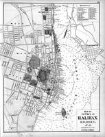 Vintage Map of Halifax Nova Scotia (1878) BW