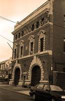 Brooklyn Firehouse Building 2001 Sepia