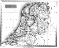 Vintage Map of Holland (1817) BW