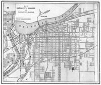 Vintage Map of Kansas City Missouri (1901) BW